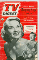 1952 TV Digest August 23 Tom Corbett of Space Cadet / Patti Page (40 pgs) Pennsylvania State edition Good to Very Good - No Mailing Label  [Wear and staining on cover, contents fine]