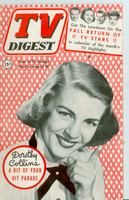 1952 TV Digest August 30 Dorothy Collins of Your Hit Parade (40 pgs) Philadelphia edition Excellent  [Lt wear on cover, ow clean; label stamped on reverse]