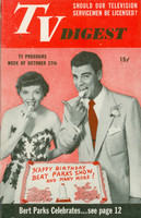 1951 TV Digest October 27 Bert Parks (40 pgs) Philadelphia edition Excellent  [Lt wear on cover, ow clean; label stamped on reverse]