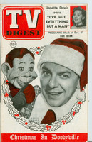 1952 TV Digest December 27 Howdy Doody (44 pgs) Pennsylvania State edition Very Good to Excellent  [Lt wear on cover, ow clean; label stamped on reverse]