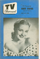 1950 TV Forecast July 29 Ginny Scott (32 pgs) Chicago edition Very Good