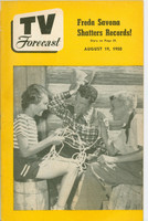 1950 TV Forecast August 19 Acrobat Ranch (32 pgs) Chicago edition Very Good to Excellent - No Mailing Label