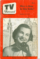 1951 TV Forecast March 10 Toni Rodgers (40 pgs) Chicago edition Very Good - No Mailing Label