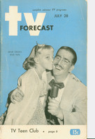 1951 TV Forecast July 28 Ernie Simon (48 pgs) Chicago edition Very Good