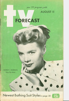 1951 TV Forecast August 11 Marion Morgan of Stop the Music (48 pgs) Chicago edition Very Good