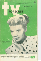 1951 TV Forecast August 11 Marion Morgan of Stop the Music (48 pgs) Chicago edition Good to Very Good - No Mailing Label