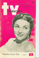 1951 TV Forecast August 18 Marion Marlowe of Arthur Godfrey Show (48 pgs) Chicago edition Good to Very Good - No Mailing Label
