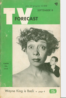 1951 TV Forecast September 8 Sid Caesar and Imogene Coca (48 pgs) Chicago edition Good to Very Good