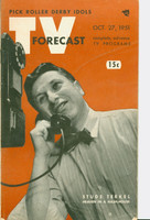 1951 TV Forecast October 27 Studs Terkel (48 pgs) Chicago edition Very Good - No Mailing Label