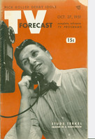 1951 TV Forecast October 27 Studs Terkel (48 pgs) Chicago edition Good to Very Good - No Mailing Label