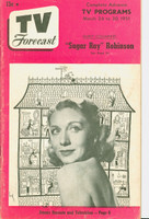 1951 TV Forecast March 24 Dorsey Connors (40 pg) Chicago edition Very Good - No Mailing Label