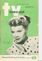 1951 TV Forecast August 11 Marion Morgan of Stop the Music (48 pg) Chicago edition Very Good