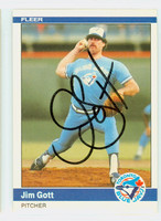 Jim Gott AUTOGRAPH 1984 Fleer #155 Blue Jays 