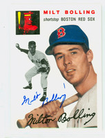 Milt Bolling AUTOGRAPH d.13 Topps 1954 Archives Red Sox 