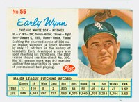 1962 Post Baseball 55 Early Wynn Single Print Chicago White Sox Fair