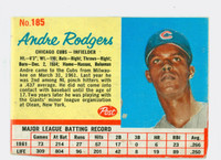 1962 Post Baseball 185 Andre Rodgers Chicago Cubs Good to Very Good