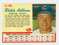 1962 Post Baseball 186 Richie Ashburn Chicago Cubs Excellent