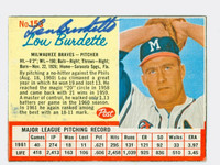 Lou Burdette AUTOGRAPH d.07 1962 Post Braves 