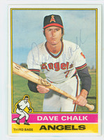 Dave Chalk AUTOGRAPH 1976 Topps #52 Angels 