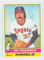 Ed Figueroa AUTOGRAPH 1976 Topps #27 Angels 