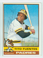 Tito Fuentes AUTOGRAPH 1976 Topps #8 Padres 