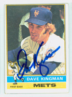Dave Kingman AUTOGRAPH 1976 Topps #40 Mets CARD IS VG, OC TB