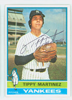 Tippy Martinez AUTOGRAPH 1976 Topps #41 Yankees ROOKIE 