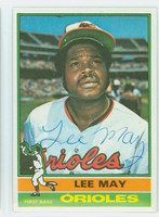 Lee May AUTOGRAPH 1976 Topps #210 Orioles   [SKU:MayL963_T76BBCC]