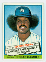 1976 Topps Baseball 74 T Oscar Gamble New York Yankees Excellent