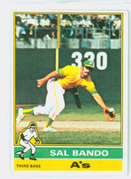 1976 Topps Baseball 90 Sal Bando Oakland Athletics Very Good to Excellent