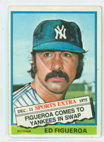 1976 Topps Baseball 27 T Ed Figueroa TRADED New York Yankees Very Good