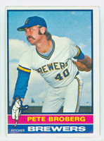 1976 Topps Baseball 39 Pete Broberg Milwaukee Brewers Very Good