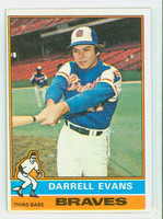 1976 Topps Baseball 81 Darrell Evans Atlanta Braves Very Good