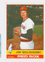 1976 Topps Baseball 102 Jim Willoughby Boston Red Sox Very Good