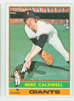 1976 Topps Baseball 157 Mike Caldwell San Francisco Giants Very Good