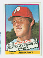 1976 Topps Baseball 80 T Jim Kaat Philadelphia Phillies Excellent to Mint