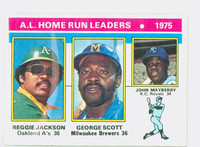 1976 Topps Baseball 194 AL Home Run Leaders Excellent to Mint