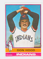 1976 Topps Baseball 132 Don Hood Cleveland Indians Excellent to Mint