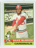 1976 Topps Baseball 135 Bake McBride St. Louis Cardinals Excellent to Mint