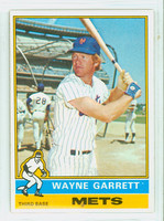1976 Topps Baseball 222 Wayne Garrett New York Mets Excellent to Mint