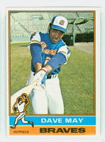 1976 Topps Baseball 281 Dave May Atlanta Braves Excellent to Mint
