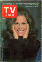 1972 TV Guide Feb 26 Mary Tyler Moore Central Indiana edition Good to Very Good - No Mailing Label  [Small tape pieces on binding; heavy scuffing on cover; contents fine]