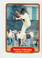 1982 Fleer Baseball 292 Dennis Eckersley Boston Red Sox Near-Mint to Mint