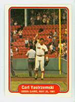 1982 Fleer Baseball 633 3000th Game - Yastrzemski Boston Red Sox Near-Mint to Mint
