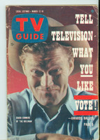 1960 TV Guide Mar 12 Chuck Connors of The Rifleman Colorado edition Very Good to Excellent - No Mailing Label  [Wear on cover and binding; contents fine]