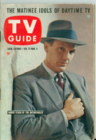 1960 TV Guide Feb 27 Robert Stack of The Untouchables (First Cover) Chicago edition Excellent - No Mailing Label  [Lt wear on cover, ow clean]