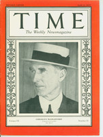 Time Magazine April 11, 1927 Connie Mack of the Philadelphia Athletics Excellent [Lt wear along binding, cover very clean and contents beautiful, remarkable for this vintage (50 pgs)]