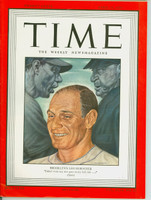 Time Magazine April 14, 1947 Leo Durocher of the Brooklyn Dodgers Near-Mint [Very sharp, only lt wear on cover, ow very clean (114 pgs)]
