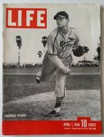 Life Magazine Cardinals Pitcher / Spring Training April 1, 1946 Very Good to Excellent [Lt wear, scuffing on both covers; contents fine, (118 pgs)]