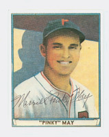 Pinky May AUTOGRAPH d.00 Pre-War Reprints 1941 Play Ball Phillies 